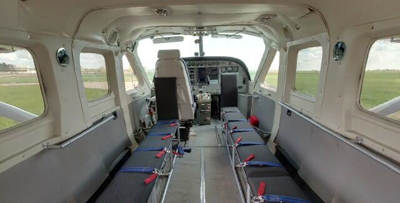 FOXY's interior - Comfortable skydiving aircraft