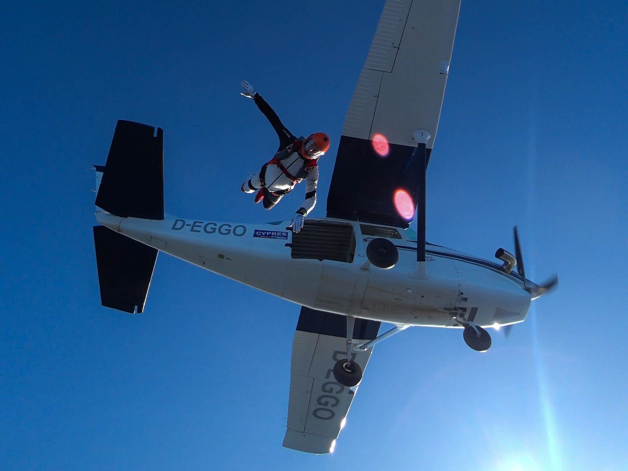 EGGO Exit - Comfortable skydiving aircraft